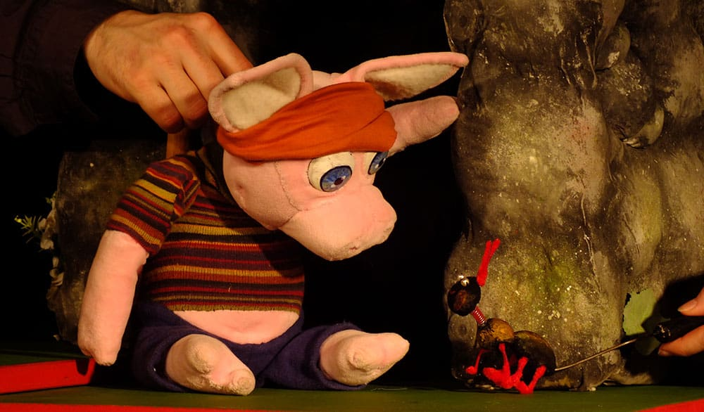 Theaterstück Die drei kleinen Schweinchen im Theater in der Badewanne Stuttgart